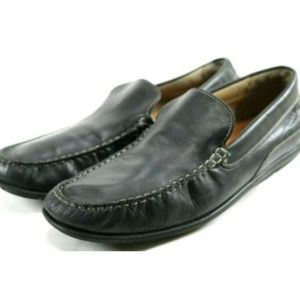 Ecco Men's Driving Loafers Size 12.5 Leather Black
